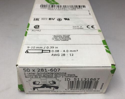 2 Stück aus OVP WAGO 2-Leiter-Schutzleiterklemme 281-607