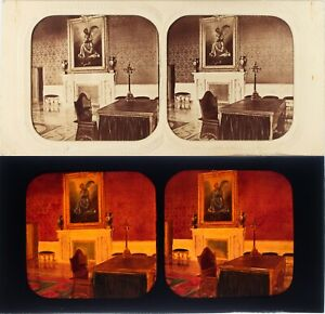Italia-Roma-Vaticano-Sala-Foto-Stereo-Diorama-Albumina-Ca-1860