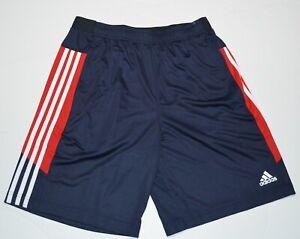 adidas Men's Active Navy Shorts with Zipper Pockets New
