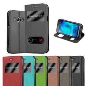 Détails sur Coque Housse Fonction Pour Samsung Galaxy XCOVER 3 Etui VIEW Case Stand