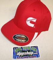 Cummins Hat Ball Cap Fitted Flex Fit Flexfit Stretch Cummings Red White Lg/xl