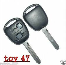 Key for Toyota Yaris Avensis Corolla Carina + 2 button remote fob case(toy 247)
