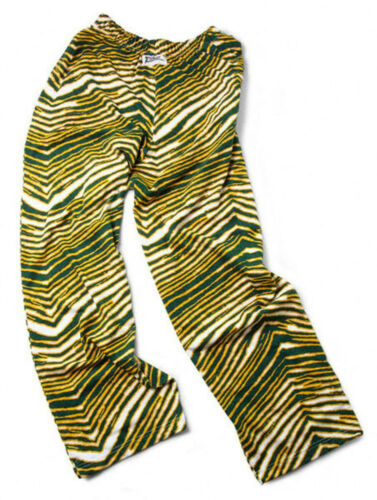 Zubaz Pants New Green//Gold Zubaz Zebra Pants