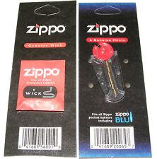 ORIGINAL GENUINE ZIPPO WICK + PACK OF 6 FLINTS - FITS ALL ZIPPO LIGHTERS - NEW