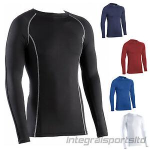 I-Deportes-Camiseta-Interior-Adulto-Unisex-Manga-Larga-Deporte-Compresion-Body