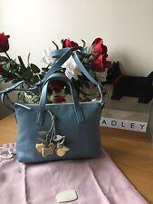 "*BEAUTIFUL*GENUINE RADLEY ""CHANTRY"" BLUE LEATHER HANDBAG - NEW- RRP £129.00"