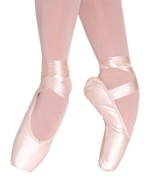 "Lt Pink 3//4 N Shank So Danca CK 07 /""Bayadere/"" Satin Ballet Pointe Shoes NWD"