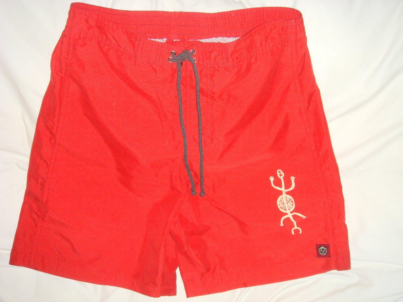 Para hombres Pantalones Cortos de Natación Maki Co Rojo GECKO Traje de Baño Traje de baño pequeño seycelles