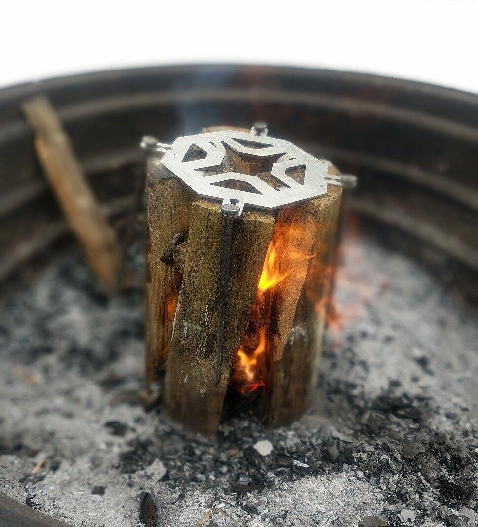 Antorcha sueco-Ligero Parrilla de registro de fuego de campamento-acero Inoxidable
