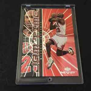 MICHAEL-JORDAN-1999-UPPER-DECK-MVP-JT1-JAM-TIME-FOIL-INSERT-CARD-BULLS-NBA-MJ