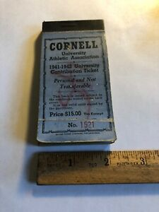 Rare-Vintage-1941-1942-CORNELL-UNIVERSITY-ATHLETIC-ASSOCIATION-Ticket-Book