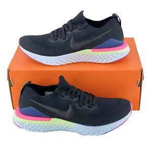 Nike-Epic-React-Flyknit-2-Pixel-Men-039-s-Sneakers-Black-White-MultiColor-BQ8928-003