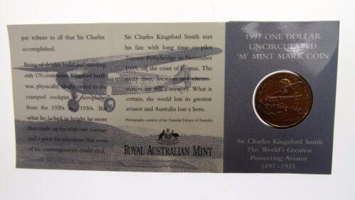 1997 Sir Charles Kingsford Smith One Dollar M Mint Mark Coin