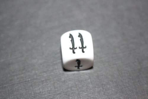 Waddingtons Dark World Board Game White Battle Dice Role Play D/&D