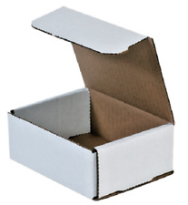 100 Pack 5x4x2 White Corrugated Shipping Mailer Packing Box Boxes