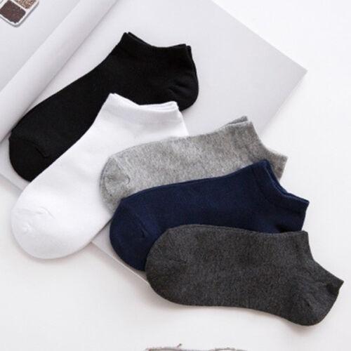 20Pair Mens Cotton Sport Short Soild Ankle Socks Casual Low
