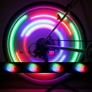 2x led speichenlicht fahrrad speichenstrahler speichen. Black Bedroom Furniture Sets. Home Design Ideas