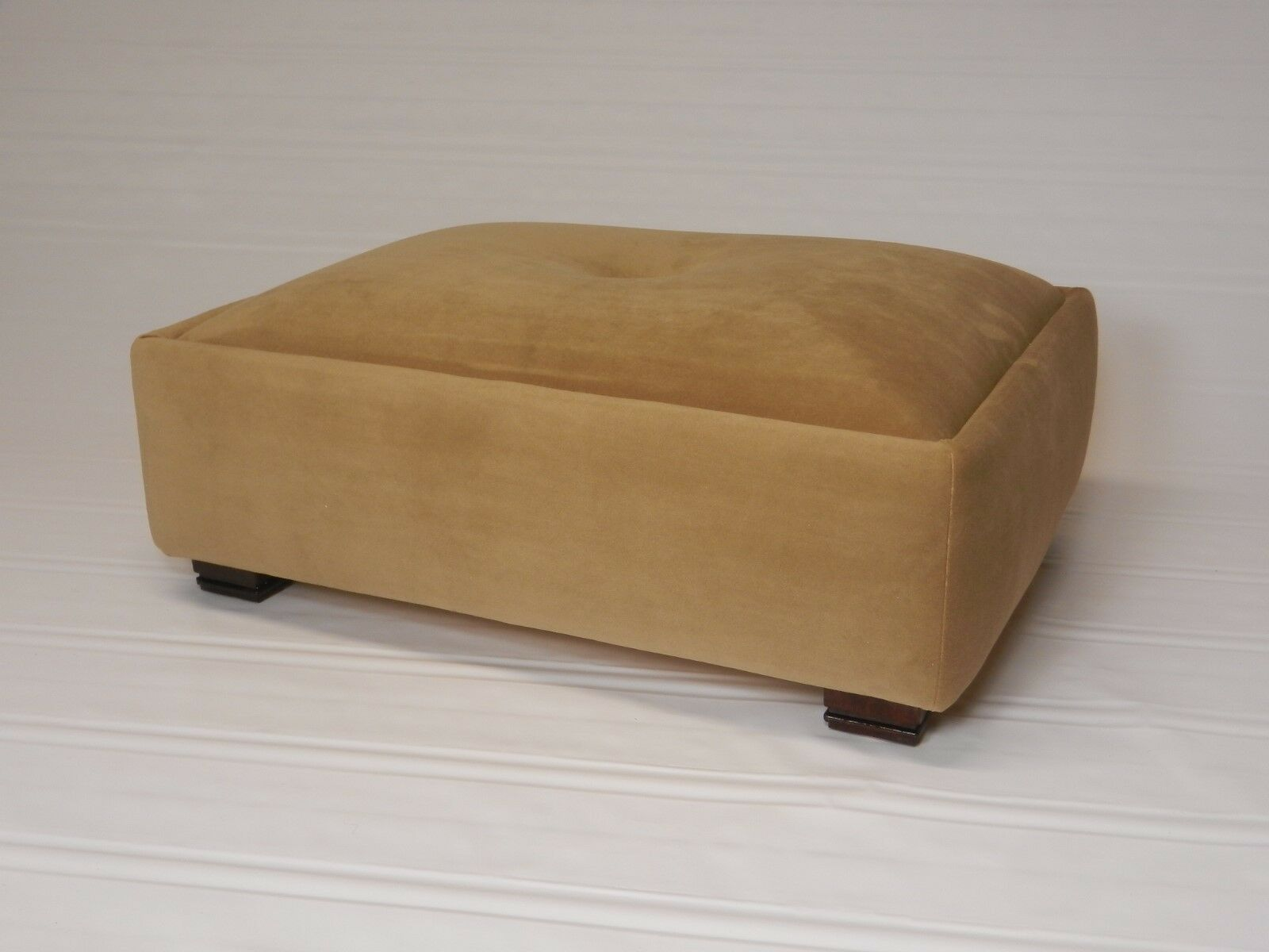 Large Tufted Suede Footstool Available In 7 Farbes