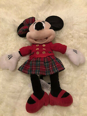 Minnie Mouse Red Plush Large Jumbo //27 inch// Navy,Gray,Yellow and White Plaid Fabric School Jumper School Uniform Plaid //Bernard Plaid 42