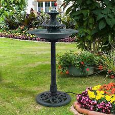 3 Tier Fountain Garden Decor Pedestal Outdoor Bird Bath Water W Pump