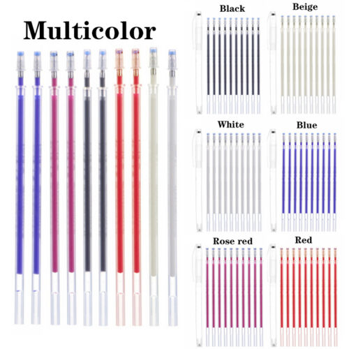 10Pcs Mark Disappearing Pen Heat Erase Refills Drawing Lines Fabric Marker Top