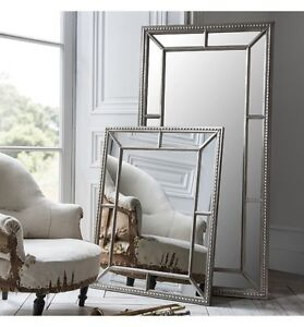Lawson Wide Frame Full Length Leaner Pewter Silver Wall