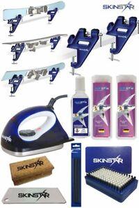 SKINSTAR Skiwax Set Skiwachs Starter Set Skispanner mit Belagsausbesserung 8- te