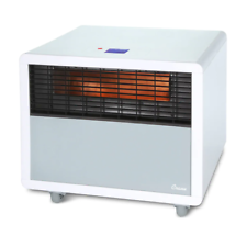 Crane Infrared Heater Space Heater with Quartz Heating Element White