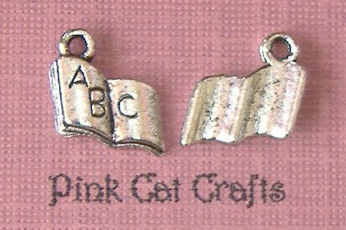 10 x Tibetan Silver BOOK  ABC BABY/'S TOY Charms Pendants Beads