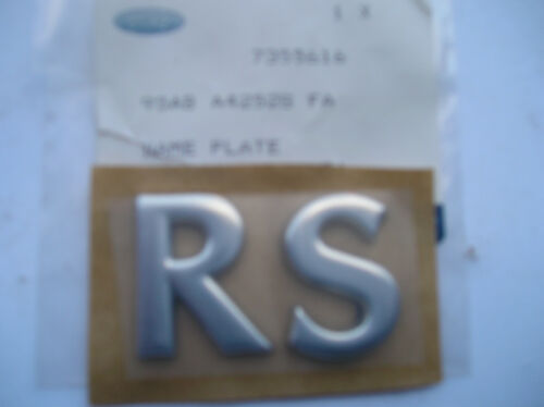 Ford Escort Rs 2000 Mk6 Nuevo badge//name Placa Rs Crome Mira Original Ford parte