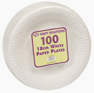 Image is loading WHITE-PAPER-PLATES-18cm-23cm-and-26cm-7-  sc 1 st  eBay : pink and white paper plates - pezcame.com