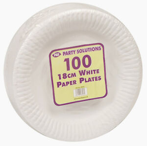Image is loading WHITE-PAPER-PLATES-18cm-23cm-and-26cm-7-  sc 1 st  eBay & WHITE PAPER PLATES 18cm 23cm and 26cm 7