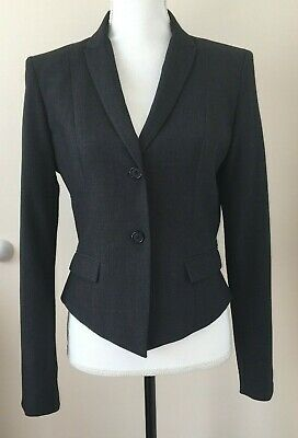 Tahari Womens Charcoal Gray Embellished One Button Pant Suit SZ 8 New with Tags