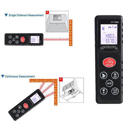 100m/328ft LCD Digital Laser Distance Meter Range Finder Diastimeter Measure Kit