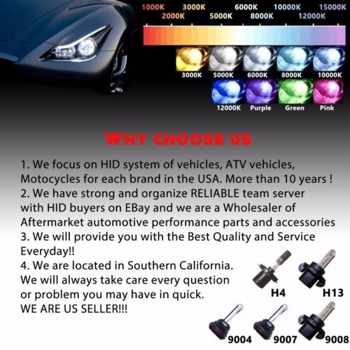 Xentec HID Bi-xenon Kit/'s Replacement Light Bulbs and Harness H4 H13 9004 9007