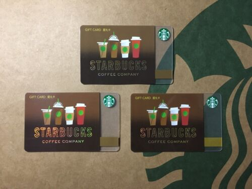 China 2016  Starbucks Classic Cups Gift Cards RMB100+200+500
