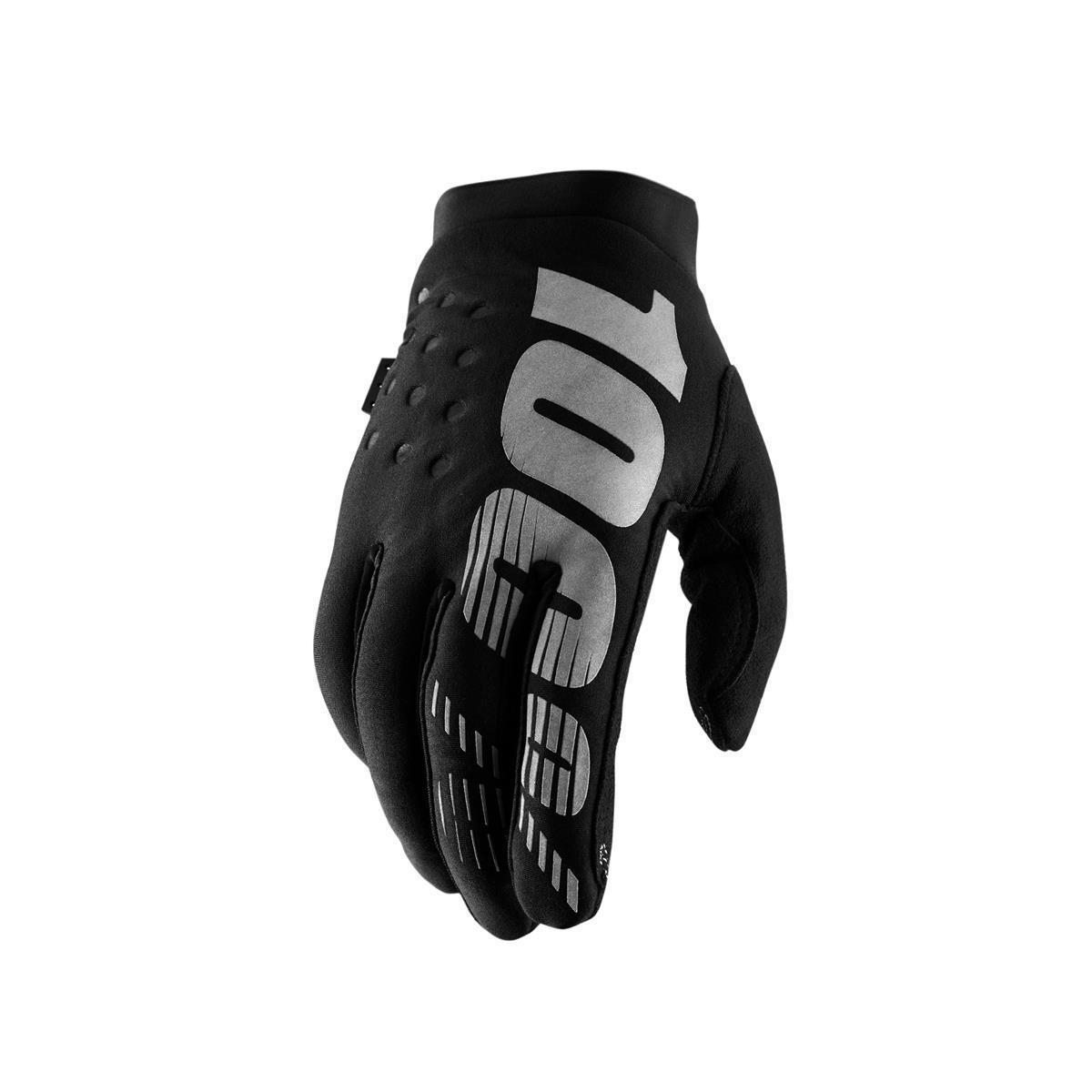 Guanti invernali brisker black 100% ciclismo