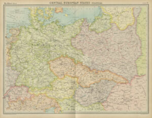 Map Of Germany And Czechoslovakia.Details About Central Europe Germany Poland Czechoslovakia Carpathian Ruthenia Times 1922 Map