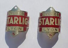 lot 2 plaques velo STARLIG LYON cyclisme (4673J)