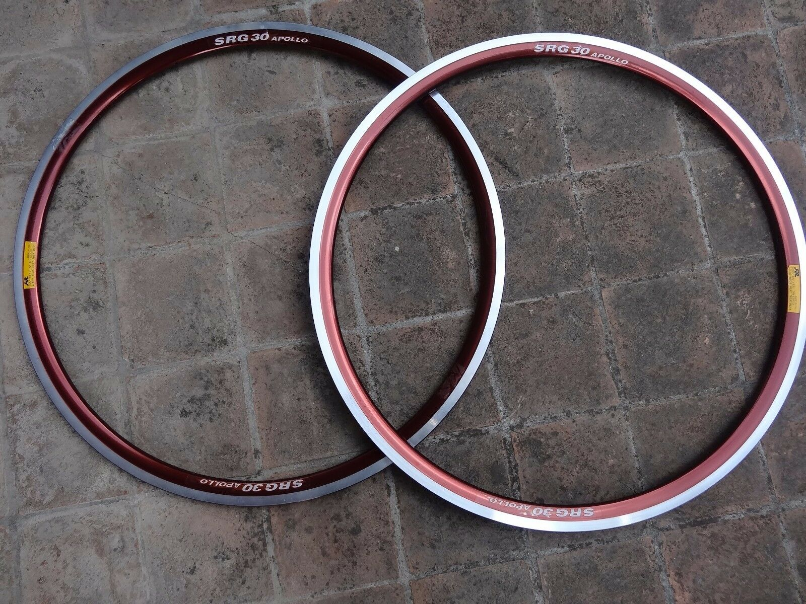 NOS FIR SRG30 Apollo pair rims 700c 28   copper anodized 36 hole for clincher