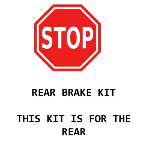 Brake Rotors Ceramic Pads Fit 2001 2002 2003 Toyota Highlander 4WD 3.0L REAR