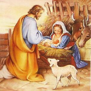 Christmas Jesus.Details About 4x Paper Napkins For Decoupage Decopatch Christmas Jesus Born