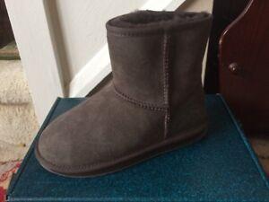 Sheepskin Stinger 37 Size Boots 4 Mini Emu Genuine Eu Chocolate FIxwg11q