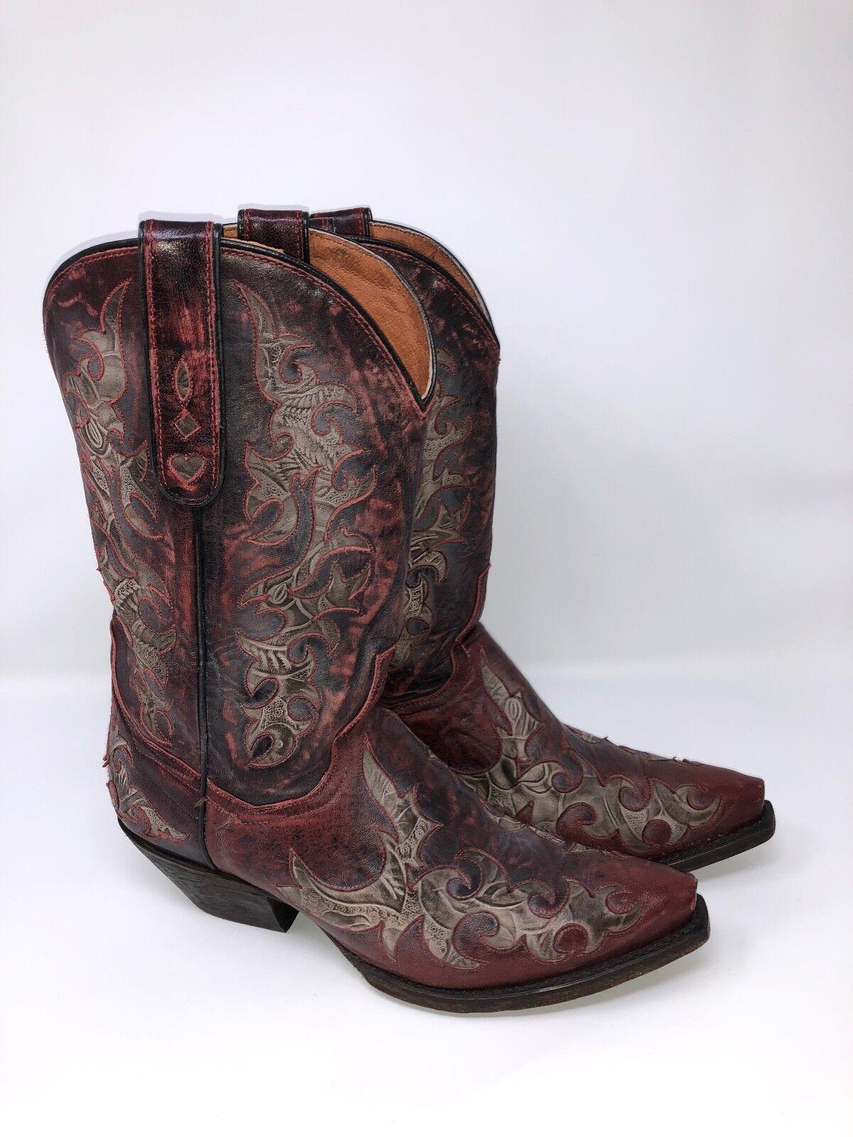 Para mujeres Cuero dan Post 11  Zephyr Zephyr Zephyr Lijado SNIP Toe botas occidental  los nuevos estilos calientes