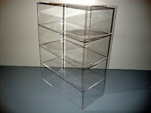 Acrylic-Lucite-Countertop-Display-Case-ShowCase-Box-Cabinet-12-034-x-4-034-x-16-034
