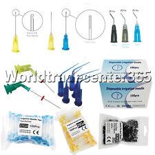 Dental Irrigation Endodontic Notched Syringes Tips Endo Closed Pre Bent