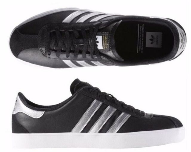 Adidas Originals Skate ADV Black Leather Sneakers B27381 NEW