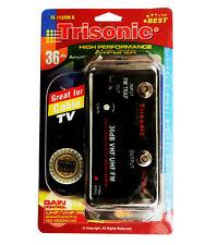 """Cable TV,HDTV 36 db VHF UHF FM Antenna Signal Amplifier"""