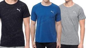 Men-039-s-Puma-Evostripe-Tee-Crew-Neck-T-shirt-Cotton-Gray-Black-Blue-NWT
