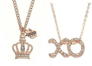JUICY COUTURE rose gold tone crown or XO necklace CARDED NEW eBay